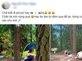 Cô gái ăn mặc hở hang khi đi phượt cùng nhóm bạn nam khiến dân mạng tranh luận gay gắt