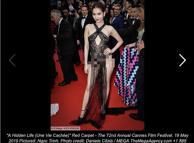 Người Pháp nhận xét về Ngọc Trinh: Nên cấm những cô gái này trên thảm đỏ LHP Cannes-2