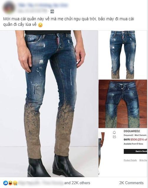 Chàng trai bỏ hơn 10 triệu mua quần hàng hiệu mà bị mẹ mắng té tát vì không khác gì quần cấy lúa-1