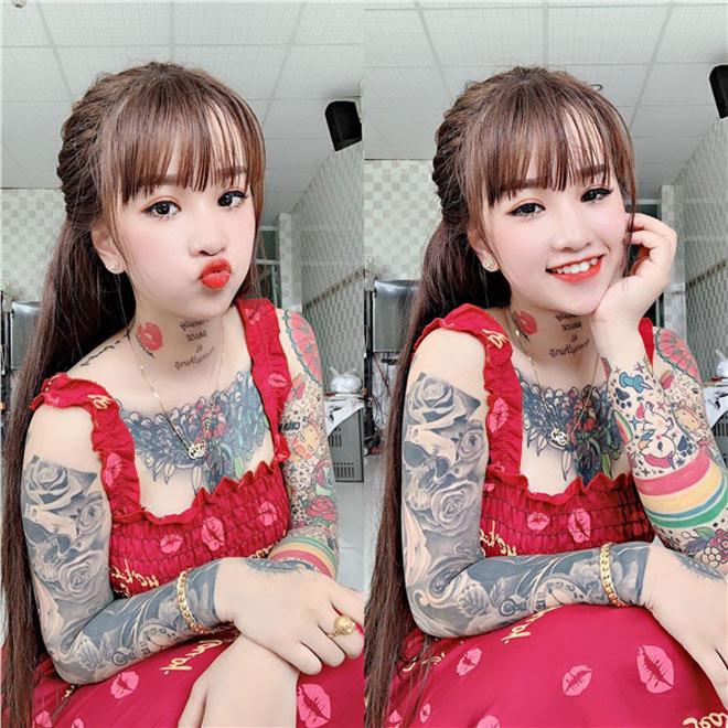 Cô gái xinh đẹp An Giang 19 tuổi kể chuyện xăm kín ngực, 14 hình ở chân-3