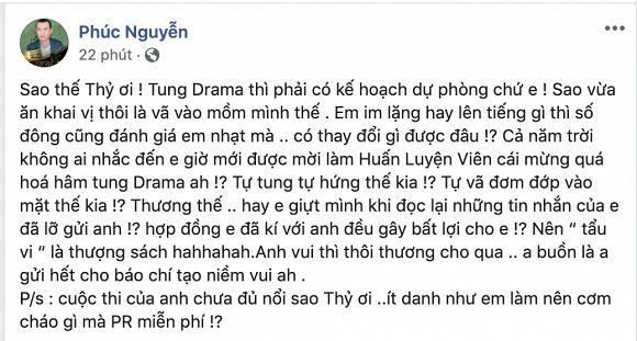 Ông bầu Phúc Nguyễn mắng Mâu Thủy: Tự tung drama, nhạt nhòa và tự vả mặt mình-1
