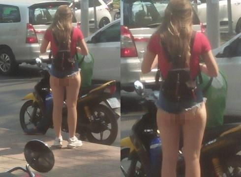 Phơi vòng 3 ra ngoài quần đi chơi phố Sài Gòn, cô gái trẻ khiến dân mạng lắc đầu ngán ngẩm với kiểu thời trang kinh hãi-1