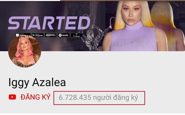 Sau sự cố ảnh nóng, lượng người đăng ký kênh Iggy Azalea tăng vọt: Chính thức quay lại top 3 cùng Nicki Minaj và Cardi B-1