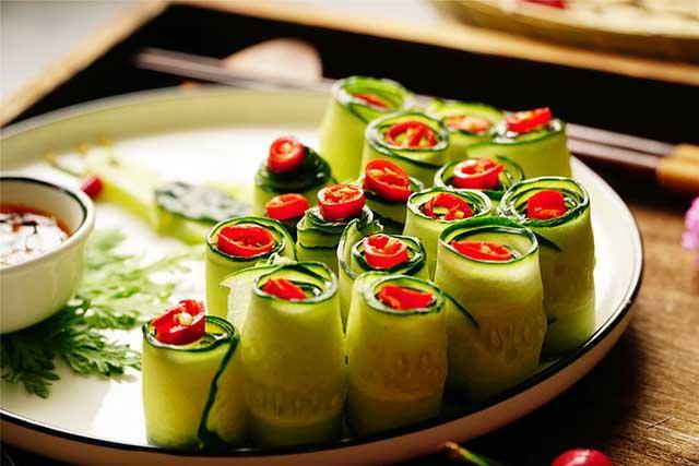5 phút biến tấu món salad dưa leo chim công đẹp ngon hết sảy-6