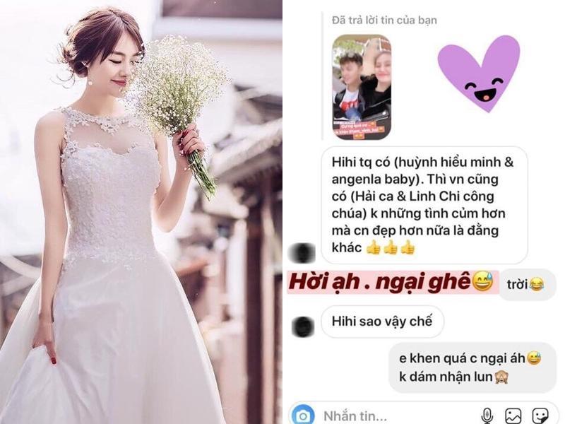 Linh Chi ngại ngùng khi tình yêu với Lâm Vinh Hải được ví như Huỳnh Hiểu Minh và Angela Baby-1