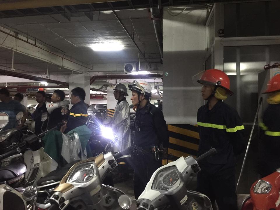 Cháy hầm chung cư nhưng chuông báo cháy không kêu, bảo vệ chặn xe cứu hỏa: Chủ đầu tư lên tiếng-1