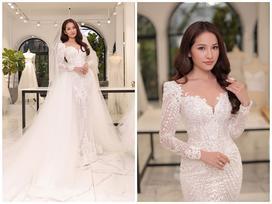 Cận cảnh chiếc váy cưới mà Sara Lưu sẽ mặc trong đám cưới với nhạc sĩ Dương Khắc Linh