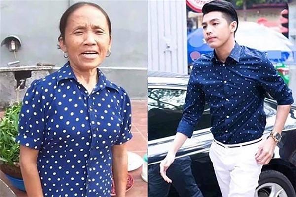 Dân mạng tình cờ phát hiện: Bà Tân Vlog mặc áo xanh chấm bi hao hao Noo Phước Thịnh-1