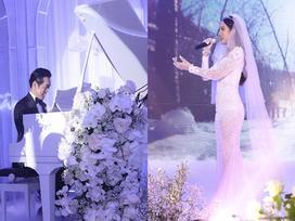 Ngôn tình đời thực: Dương Khắc Linh sáng tác riêng ca khúc tặng bà xã 9x trong lễ cưới đậm màu cổ tích