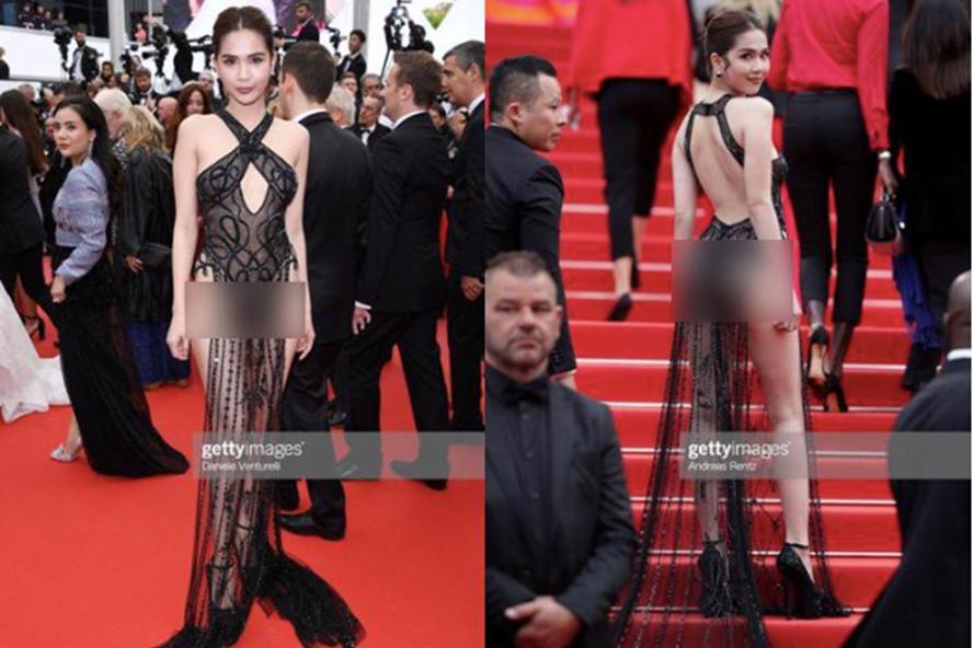 Cũng mặc bikini quấn khăn mỏng tang lên thảm đỏ, Linh Chi ve vuốt Ngọc Trinh: Mặc kệ những đứa đánh giá chúng mình-6