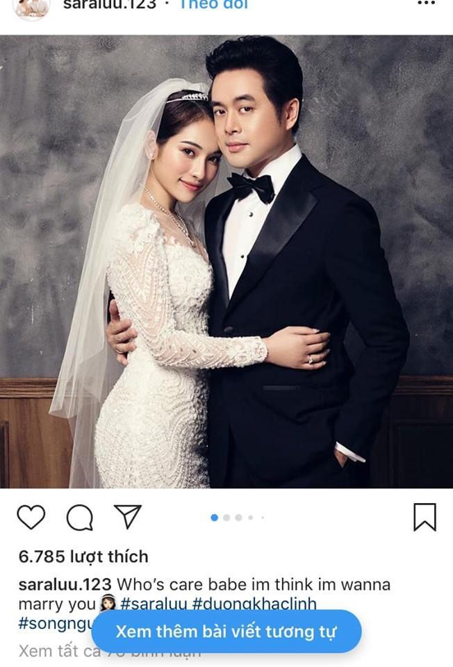 Nịnh ông xã Dương Khắc Linh bằng tiếng Anh, nàng dâu mới Sara Lưu bị bóc mẽ đã dốt lại còn thích khoe-1