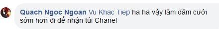 Chỉ qua một đoạn comment, Vũ Khắc Tiệp đã làm lộ thời gian đám cưới của Quách Ngọc Ngoan và Phượng Chanel không còn xa-4