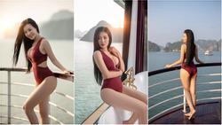 Clip: Nữ diễn viên 'Quỳnh búp bê' tung bộ ảnh bikini mới 'đốt mắt'