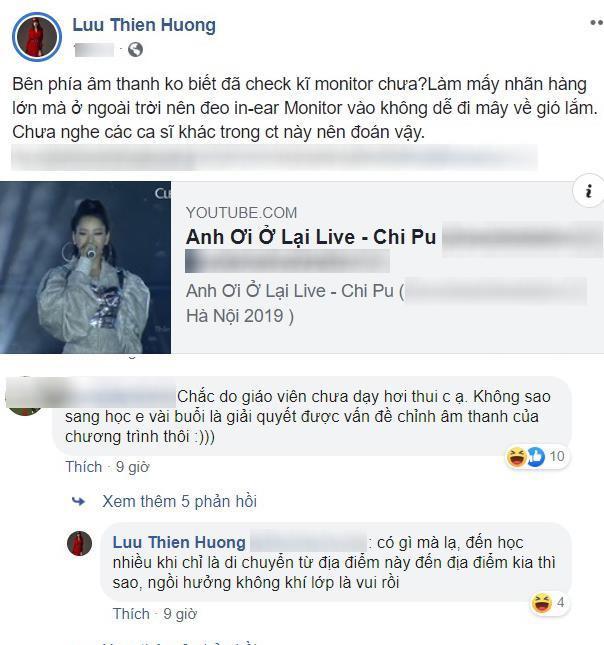 Lưu Thiên Hương bị nghi đá đểu giọng hát live của Chi Pu-2