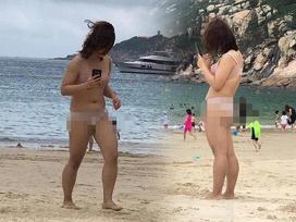 Diện đồ lót thay bikini rồi chạy tung tăng khắp bãi biển, gái xinh bị chỉ trích can đảm không đúng chỗ