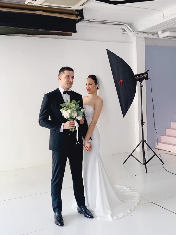 Hậu trường chụp ảnh cưới siêu đáng yêu của siêu mẫu MC Phương Mai cùng chồng Tây-3