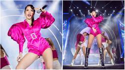 Chưa hết ngán ngẩm vì màn hát live như sắp xỉu của Chi Pu, fan lại chán hẳn với bộ đồ diễn như 'cô bé đô con'