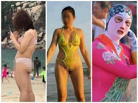 THẢM HỌA thời trang đi biển: Người diện nội y mặc như không - kẻ lại kín bưng hở mỗi mắt