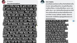 Cư dân mạng Thái Lan bình luận 'uất ức' sau trận đấu: 'Năm tới bớt mời Việt Nam hộ cái'