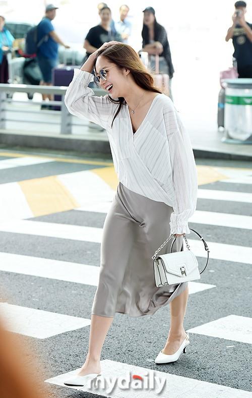 Đầm lụa tai hại khiến Midu gặp sự cố kém duyên y chang Park Min Young-6