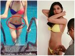 Ở tuổi 35, Phương Linh khoe vòng ba khủng với bikini đứng tắm dưới vòi sen ngoài trời-6