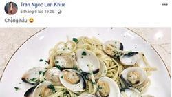 Bầu 3 tháng, Lan Khuê được chồng vào bếp nấu ăn, Lý Nhã Kỳ cũng phải thốt lên điều này...