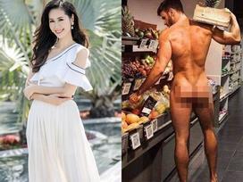 Nữ MC thời tiết nổi tiếng VTC gây xôn xao khi chia sẻ ảnh người đàn ông trần truồng để hưởng ứng Ngày môi trường