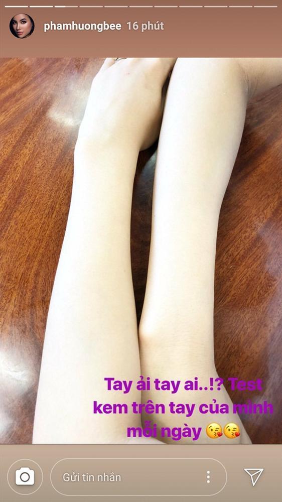 Phạm Hương test kem trắng da nhưng ai nấy đều kinh hãi khi nhìn vào cánh tay hoa hậu-1