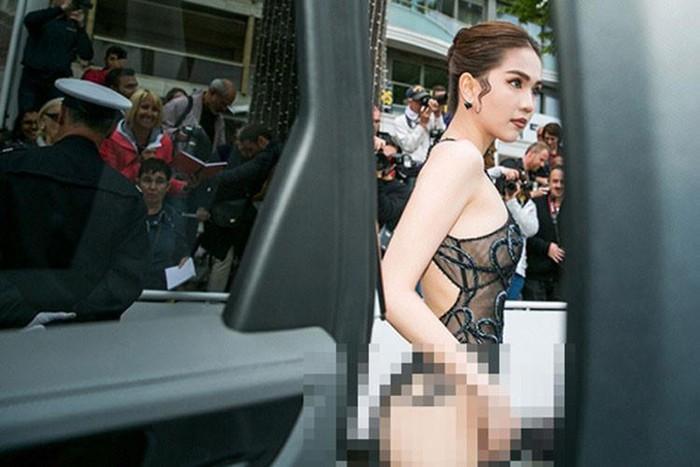 Người Hàn mắng, đề nghị xử phạt Ngọc Trinh mặc thô tục tại Cannes-7