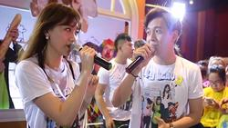 Clip ĐỘC: Hari Won - Ngô Kiến Huy lần đầu song ca 'Anh cứ đi đi', người tung kẻ hứng ăn ý không ngờ