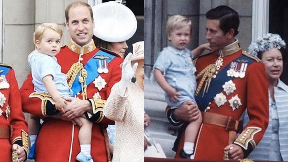 Dân mạng thích thú khi phát hiện con trai út của Kate mặc lại áo cách đây 33 năm của Hoàng tử Harry-4