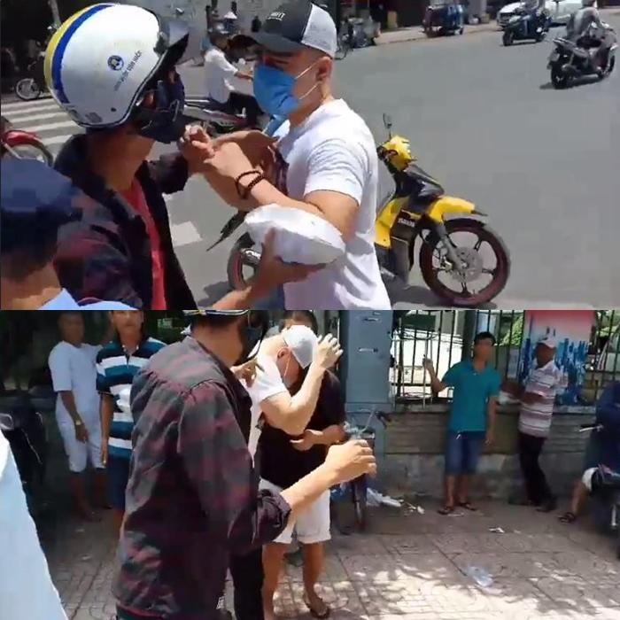Lê Dương Bảo Lâm bị đánh không trượt phát nào khi đang phát cơm từ thiện trên phố-1