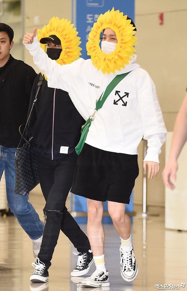 Fan cười bò vì Suga, Jin, J-Hope (BTS) tự tin khoe cá tính ở sân bay với gương mặt nở hoa toàn tập-5
