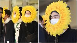 Fan 'cười bò' vì Suga, Jin, J-Hope (BTS) tự tin khoe cá tính ở sân bay với gương mặt 'nở hoa' toàn tập