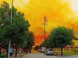 Bầu trời phủ một màu vàng khi doanh nghiệp gặp sự cố, chưa rõ hóa chất gì