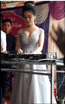 CLIP chất đừng hỏi: Cô dâu lộ vòng một căng tròn, làm DJ cho cả quan viên hai họ quẩy tung chảo-3