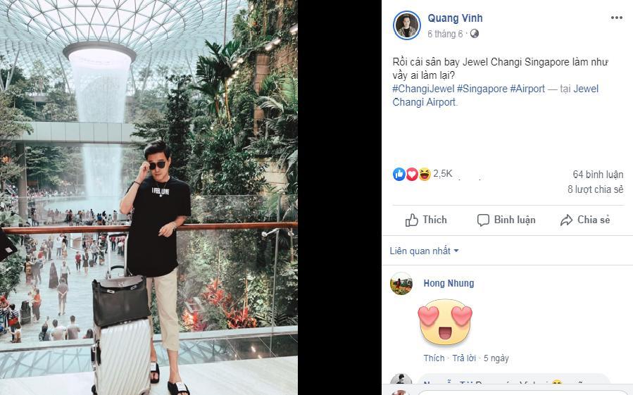 Quá đẹp và hoành tráng, sân bay Singapore khiến Hoàng tử sơn ca Quang Vinh phải thốt lên kinh ngạc-2