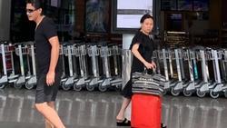 Quách Ngọc Ngoan - Phượng Chanel diện đồ đôi ở sân bay nhưng chẳng khác nào người dưng ngược lối