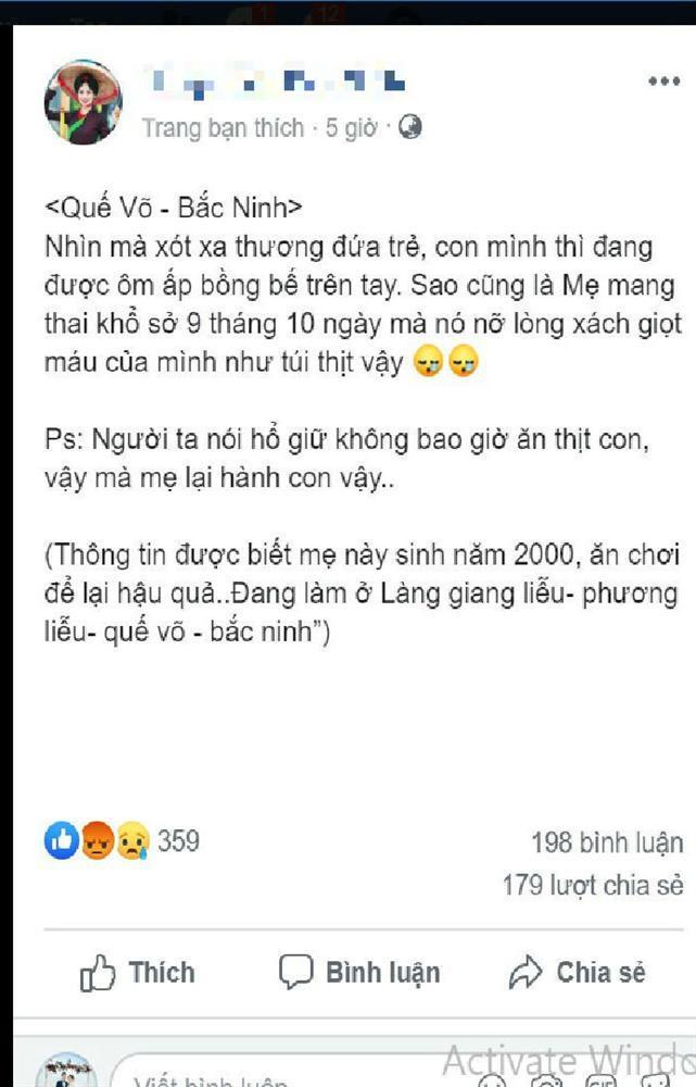 Thì ra đây là lý do bà mẹ xăm trổ ở Bắc Ninh túm cổ áo, xách ngược con lủng lẳng trên tay, biết số ngày tuổi của đứa trẻ mới sốc-2