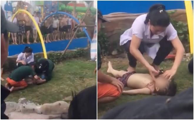 Nóng: Bé trai bị đuối nước tại Công viên nước Thanh Hà đã tử vong-2