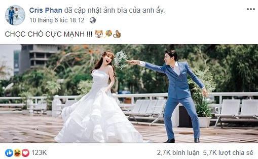 2 ngày trước đám cưới, Cris Phan khiến ai cũng hoang mang khi đăng ảnh cùng Mai Quỳnh Anh rồi phát ngôn sốc: Chọc chó cực mạnh-2