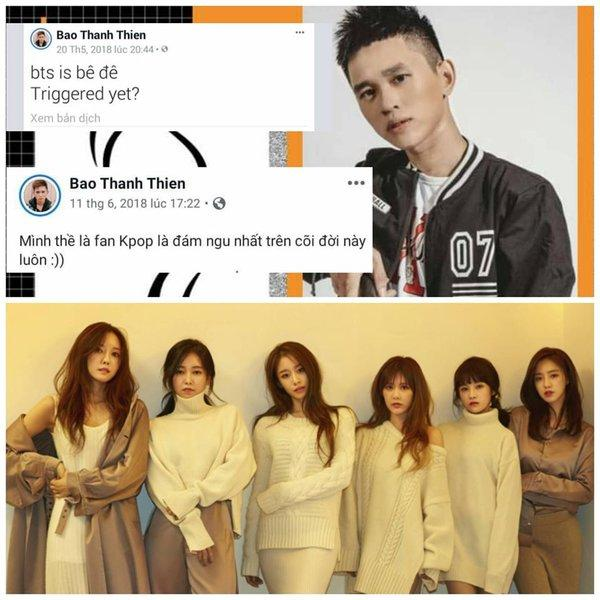 Nam rapper Việt tự cho mình quyền chửi BTS: Chẳng có lý nào tôi không được chửi idol các bạn, lêu lêu-1