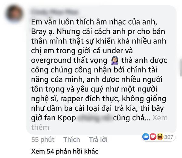 Nam rapper Việt tự cho mình quyền chửi BTS: Chẳng có lý nào tôi không được chửi idol các bạn, lêu lêu-5