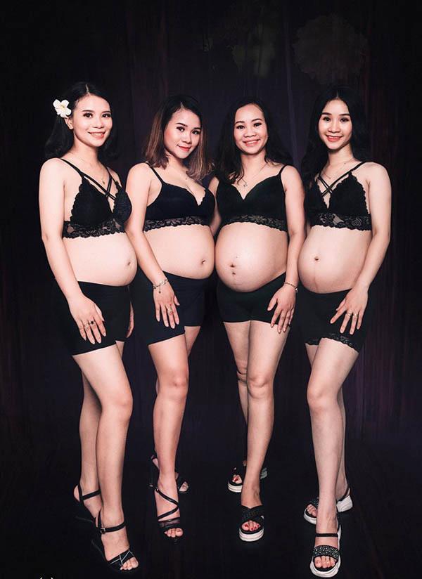 HOT nhất MXH chiều nay: 4 chị em ruột ở Nghệ An khiến người xem kinh ngạc khi khoe ảnh cùng nhau mang bầu-2