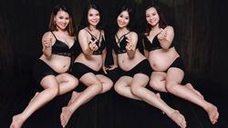 HOT nhất MXH chiều nay: 4 chị em ruột ở Nghệ An khiến người xem kinh ngạc khi khoe ảnh cùng nhau mang bầu