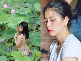 Nữ diễn viên khiến dân tình sôi sục với concept trần truồng bên hồ sen tiết lộ sốc: 'Đó chỉ là ảnh hậu trường'