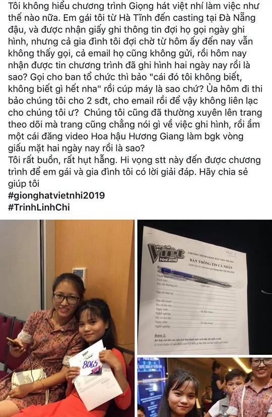 Giọng hát Việt nhí 2019 chưa lên sóng đã dính phốt làm ăn thiếu chuyên nghiệp, không tôn trọng thí sinh-5