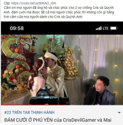 Thánh cơ hội Cris Phan mải mê đám cưới vẫn không quên làm Vê lốc nhưng bất ngờ nhất là lượt người xem thu về-2
