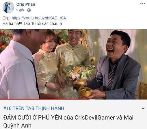 Thánh cơ hội Cris Phan mải mê đám cưới vẫn không quên làm Vê lốc nhưng bất ngờ nhất là lượt người xem thu về-3