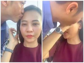 Cường Đô La 'cưỡng hôn' Đàm Thu Trang ngay trên sóng livestream khiến ai xem cũng thích